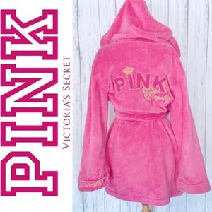 PINK Victoria's Secret Rock Royalty Plush Robe